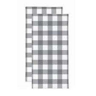 Gray Plaid Dishtowel