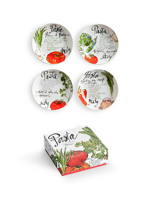 Set of 4 Pasta Theme Dipping Dishes