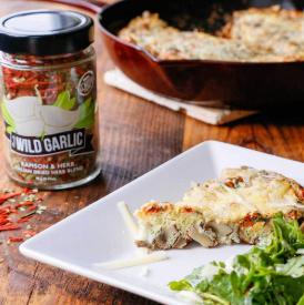 Wild Garlic & Mushroom Frittata