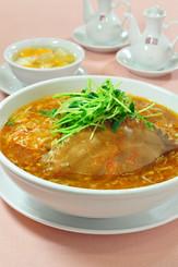 正月恒例、渡り蟹の湯麺
