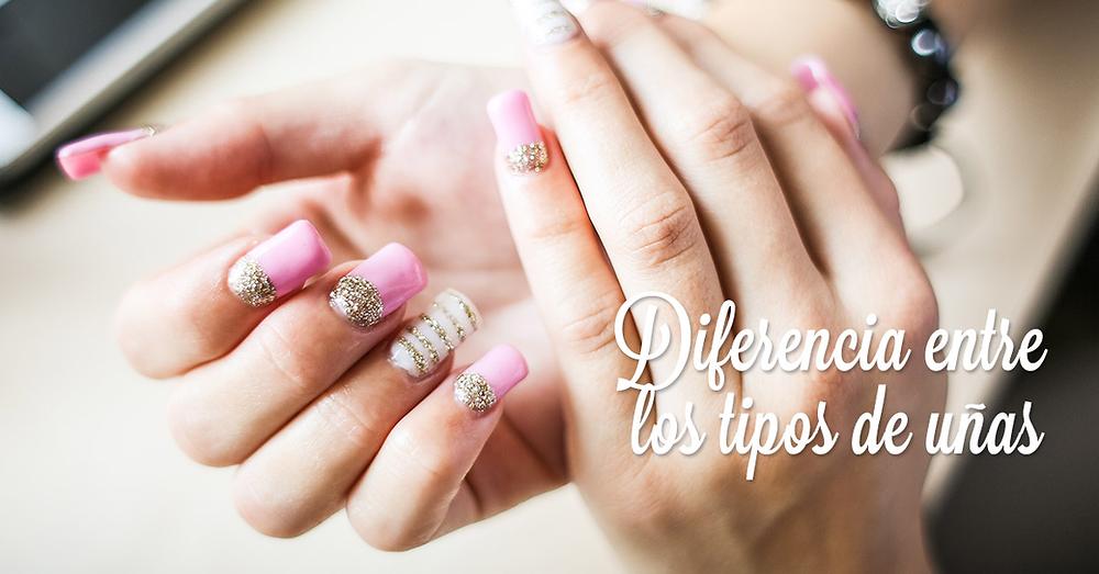 Diferencia entre tipos de uñas