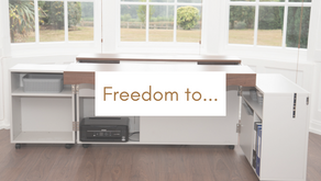 This foldable desk = Freedom