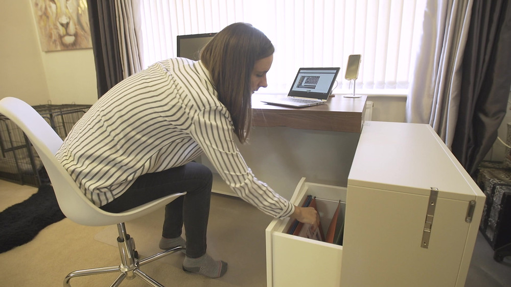 Decluttering your home with our folding desk
