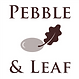 Pebble & leaf logo translucent www.pebbl