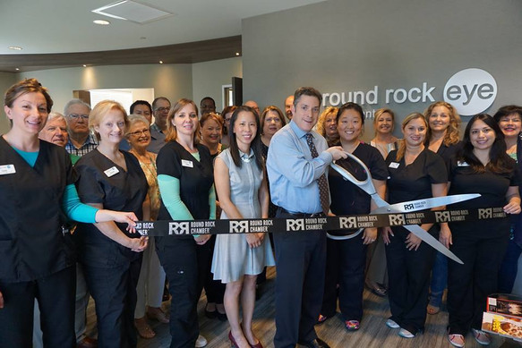 Round Rock Eye Consultants Ribbon Cutting