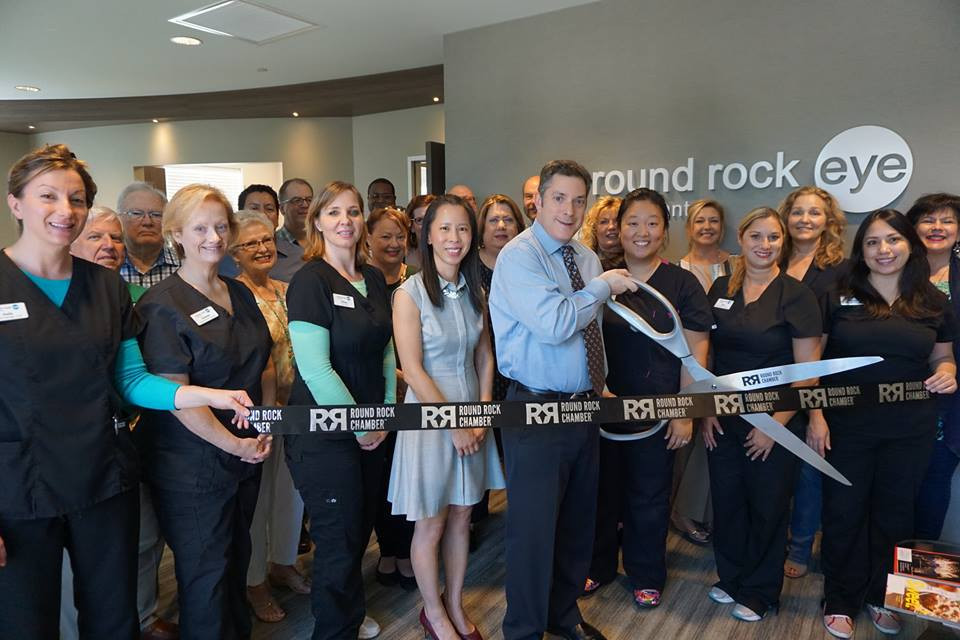 Round Rock Chamber of Commerce Ribbon Cutting at Round Rock Eye Consultants