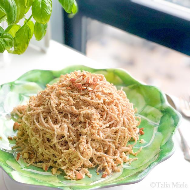 Lemon-Almond Pesto Noodles
