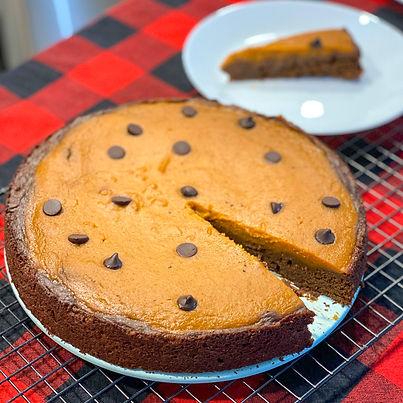 (Vegan) Pumpkin Pie Brownies