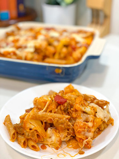 Talia's Lower Carb Baked Penne