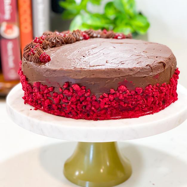 Chocolate & Raspberry Layer Cake