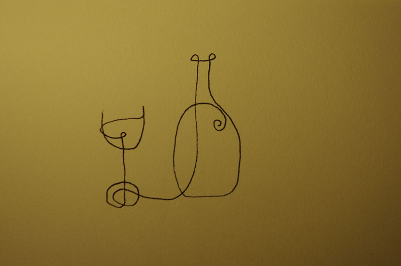 wine and bottle