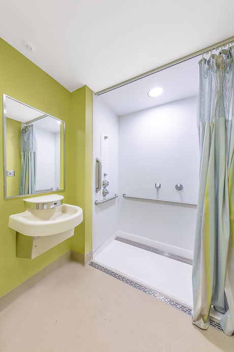 Vendura BH Patient Room - Shower and wal