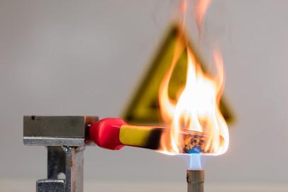 Prüfung des Brennverhaltens