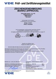 VDE Zertifikat