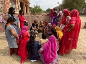Instruction in sowing moringa seeds