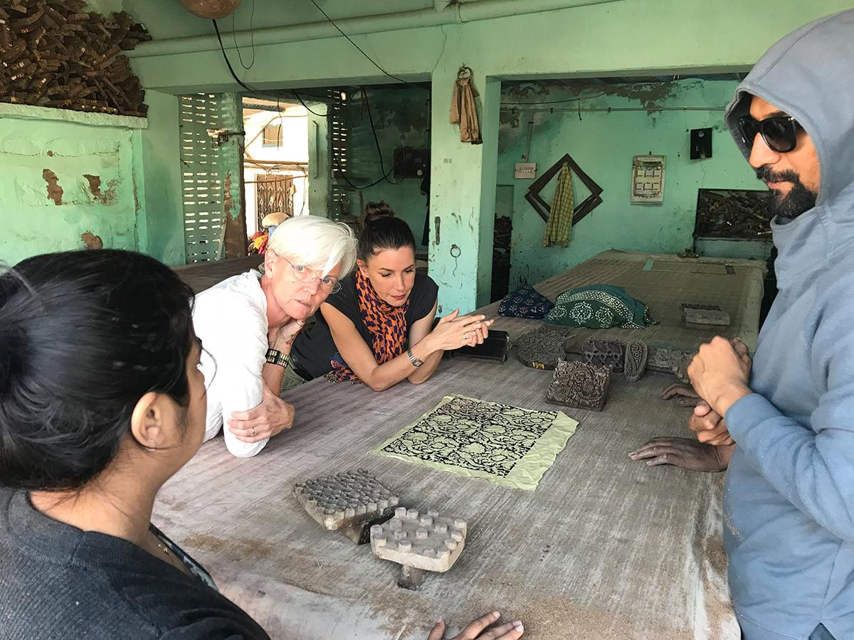 At the block printer's workshop