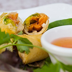 Smoke Salmon Avocado Spring Rolls
