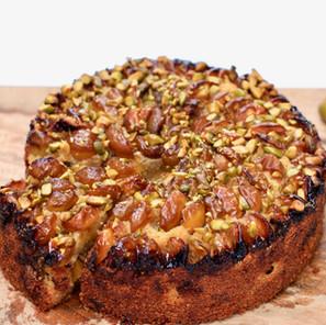 Gâteau aux Mirabelles, Pistaches et Polenta