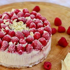 Cheesecake Chocolat Blanc Framboise (sans cuisson)