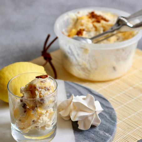 Glace goût Tarte au Citron Meringué