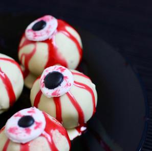 Cake Pops façon Oeil Sanglant (Halloween)