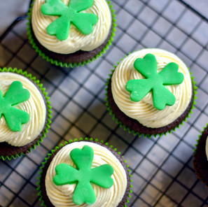 Cupcakes St Patrick (Guinness/Bailey's)