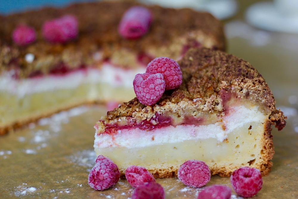 Recette du Coffee Cake Framboises - Cheesecake