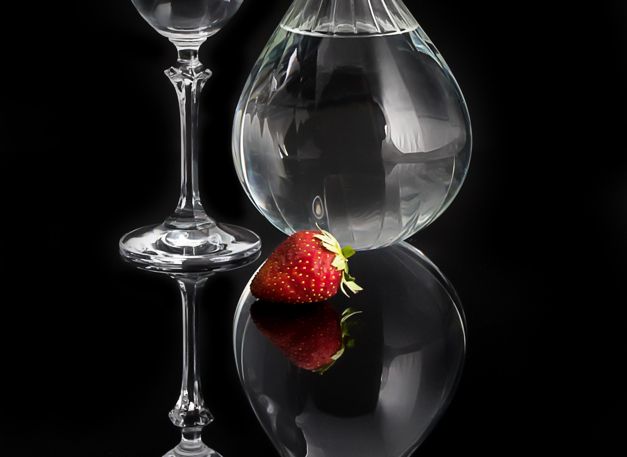 Glass with Strawberry