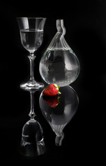 """""""Glass with Strawberry"""""""