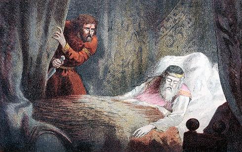 Macbeth stabbing Duncan illustration (1)