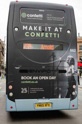 Ad for Confetti Music College