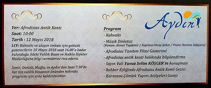 Afrodit'in kentinde klasik müzik dinletisi 12.05 2018