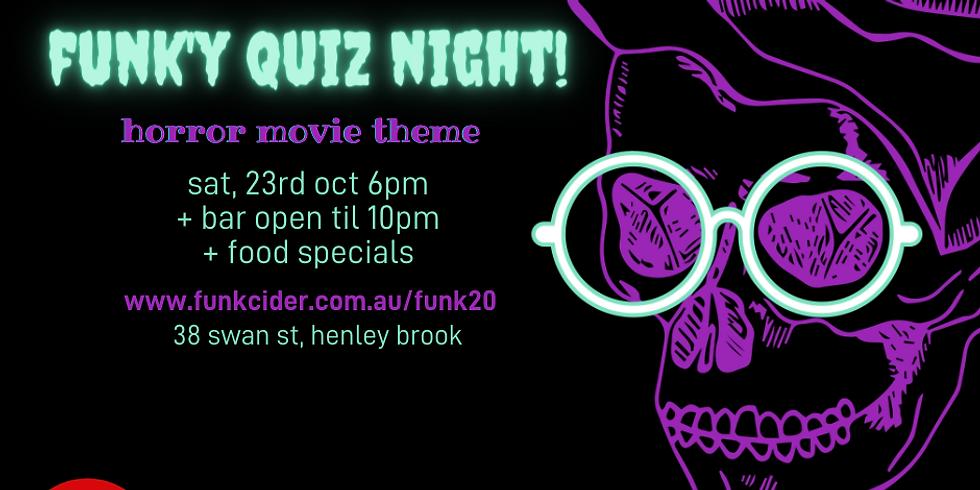 funk'y quiz night at funk 2.0 - horror movie edition