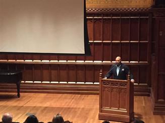 Layon speaks at Columbia University