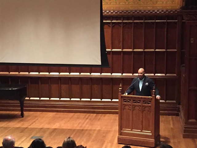 Layon speaks at Columbia University
