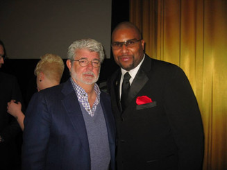 Layon with George Lucas