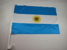 ArCaFl - Argentina Car Flag MOQ - 12/Pcs