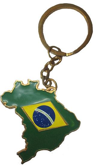 Key Chain Brazil Map Iron Aloy, KeBrMaIrAl