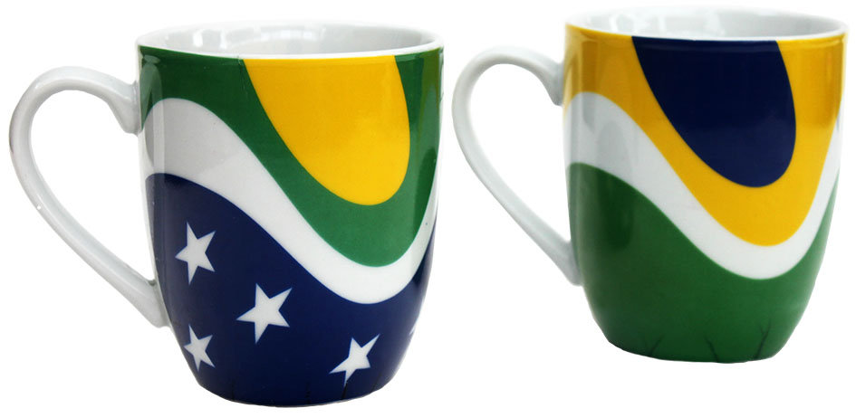 Brazil Coffee Mug 2/pc set
