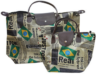PuBrPaSaSm - Purse Brazil Pattern Satin Small