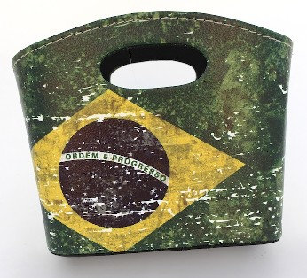 BrMPU - Brazil Leather Mini Basket