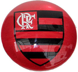 Flamengo Magnetic Small Glass Brazil Soccer League