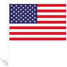 USCaFl - USA Car Flag MOQ - 12/Pcs