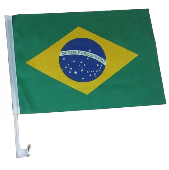 BrCaFl - Brazil Car Flag MOQ - 12/Pcs