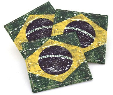 BrCo - PU Brazil Leather Coaster, 10 X 10 X 0.4cm