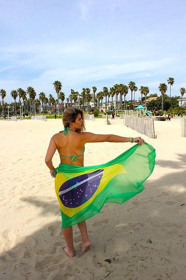Brazil Scarf Polyester Brazil Flag - BrScPoBrFl