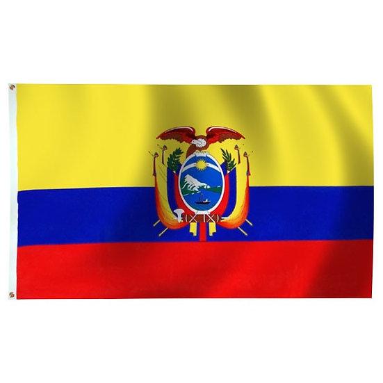 Ecuador Polyester 3' x 5' Flag