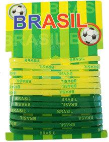BrSiBrTh12 - Brazil Silicone Bracelet Thin 12 Pack