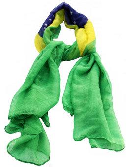 BrScPoBrFl - Brazil Scarf Polyester Brazil Flag