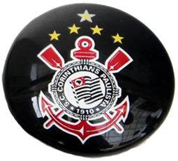 Corinthians Magnetic Small Glass Brazil Soccer Lea